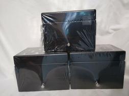 3 Hives & Honey Jewelry Box AMY Black Mirrored Top Felt Lini