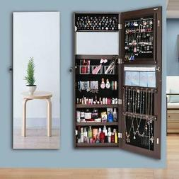 "47"" Jewelry Mirror Organizer Armoire Cabinet Hanging Wall Mo"
