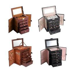 5/6 Tier Jewelry Box Storage Organizer Case Ring Earring Nec