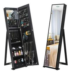 59 jewelry cabinet long mirror large storage