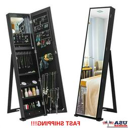 """59"""" Tall Mirrored Large Jewelry Cabinet Armoire Jewelry Stor"""