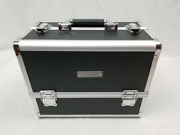 Aluminum Makeup Train Case Jewelry Box Cosmetic Organizer