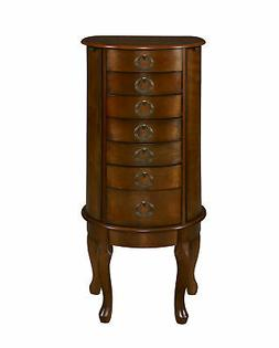 Jewelry Armoire in Woodland Cherry Finish