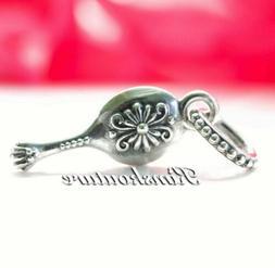 Authentic Pandora Sterling Silver Vanity Mirror Dangle Bead