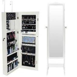 Big Jewelry Mirror Organizer Box Cabinet Dressing Mirror Arm