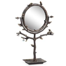 bird branch table mirror holder