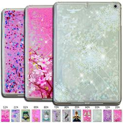 For Apple iPad Bling Dynamic TPU Back 3D Soft Quicksand Mirr