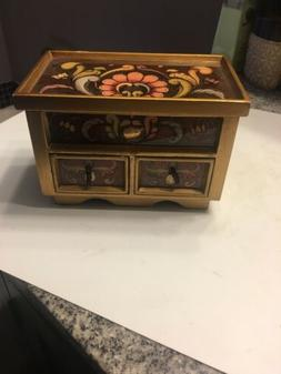 Novica  Collection Jewelry Box With Mirror Prua  Two Drawers