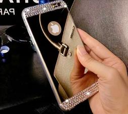 Cover Case TPU A Mirror with Rhinestones Jewellery For IPHON