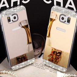 Cover Case TPU Mirror Rhinestone Jewellery for Samsung S6/Ed