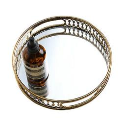 Decorative Glass Mirror Platter Jewelry Cosmetics Tray Versa