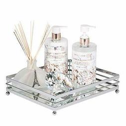 Vnesse Decorative Mirrored Makeup Tray Mirror Perfume Glass