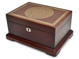 Le Grande Jewelry Mirror Box Antique Wooden Jewelry Case/ Ho
