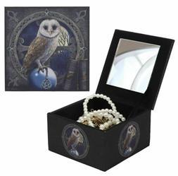 Ebros Fibreboard Spell Keeper Owl Mini Jewelry Decorative Bo