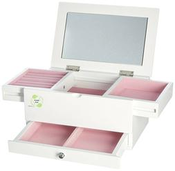Uniware Elegant Jewelry Box with 2 Drawer and Up-right Mirro