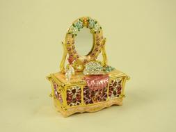 EnamelJewelry Box/ Cute Makeup and Mirror Dresser Collecti