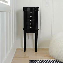 Hives & Honey Erin Jewelry Armoire with Mirror Wood Box Stor