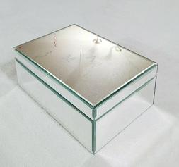 West Elm Extra Large Mirrored Jewelry Box Personalized with