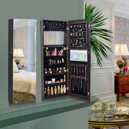 Fashion Retro Jewelry Mirror Armoire Wall/Door Mounted Holde