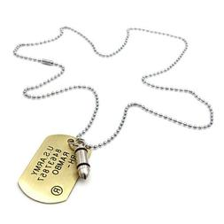 Fashion Unisex Womens Mens Personalized Necklace Tag Chain N