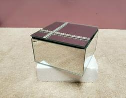 Fine Crafted Mirrored Jewelry Box w/ Lined Interior Studio H
