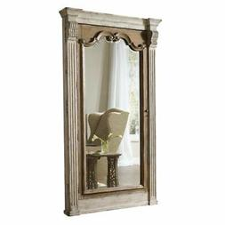Beaumont Lane Floor Mirror with Jewelry Storage in White