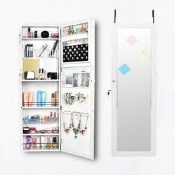 Full Length Dressing Mirror Door Wall Mounted Jewelry Cabine