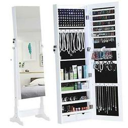 GISSAR Jewelry Organizer Full Length Mirror Jewelry Cabinet