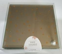 "Glass Mirror Jewelry Box Gold Scatter Dot Polkadot 4.5"" X 4."