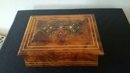 Handmade Decorative thuya Wooden Jewelry Box With mirror