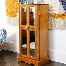 Hives &amp Honey Chelsea Mirrored Armoire Jewelry Cabinet, W