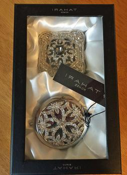 Tahari Jeweled Ring/Jewelry Box & Compact Mirror Mother's Da