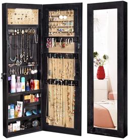 jewelry armoire cabinet solid wood organizer