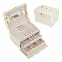 SZTulip jewelry box accessories case jewelry storage capacit