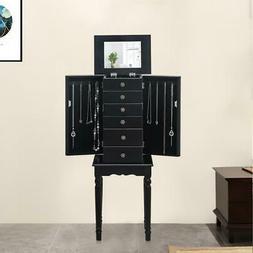Jewelry Box Armoire Storage Cabinet Standing Organizer w/5 D