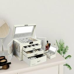 Homde Jewelry Box for Women Girls with Small Travel Case Mir