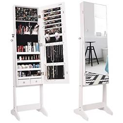 Nicetree Jewelry Cabinet with Full-Length Mirror, Standing L