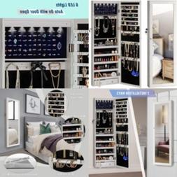 Jewelry Mirror Armoire Cabinet Large Storage Organizer LED L