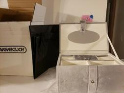 YOUDENOVA Jewelry Organizer Box Jewelry Storage Box with Mir