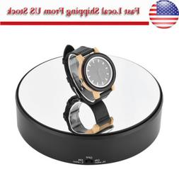 Jewelry Watch Rings Display Stand 360° Turntable Rotate Hol