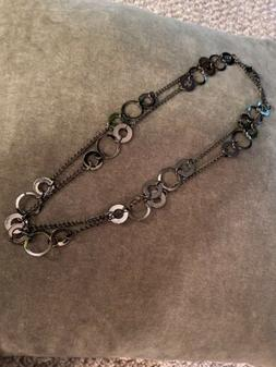 jewels by park lane Layered Necklace- Charcoal Mirrors