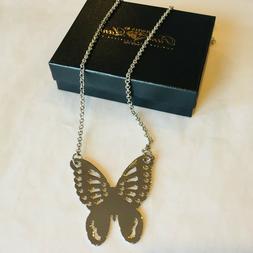 Jewels by Park Lane Silvertone Mirror Finish Butterfly Rolo