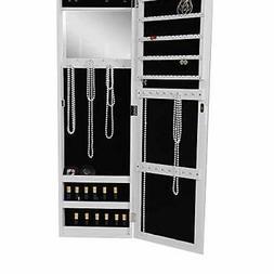 JMIR-WHT Jewelry Cabinet Lockable Door Armoire Organizer wit