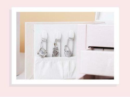 3-Layer Leather Ring Necklace Organizer With