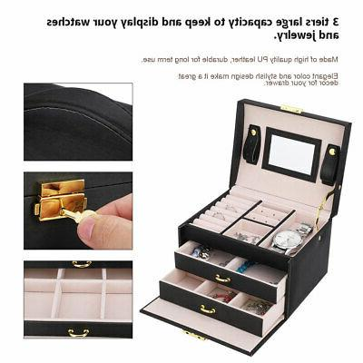 3 Watch Storage Display Case Lock