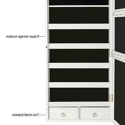Wall Door Jewelry Lockable Armoire Organizer