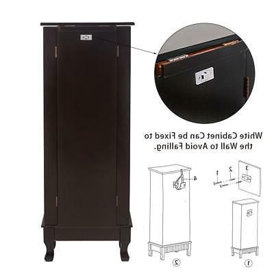 7 Drawer Jewelry Cabinet Armoire Box Storage Stand Organizer