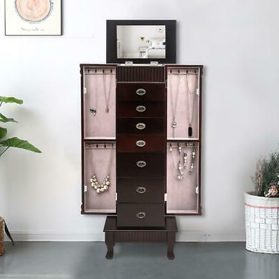 7 Drawer Jewelry Armoire Box Stand w/Mirror