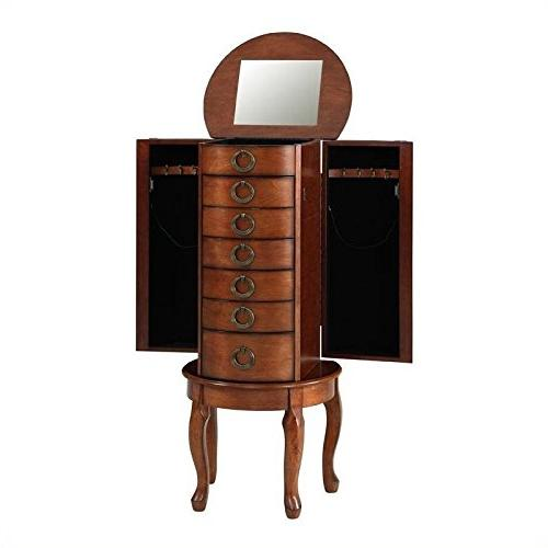 Jewelry Armoire Cherry Finish