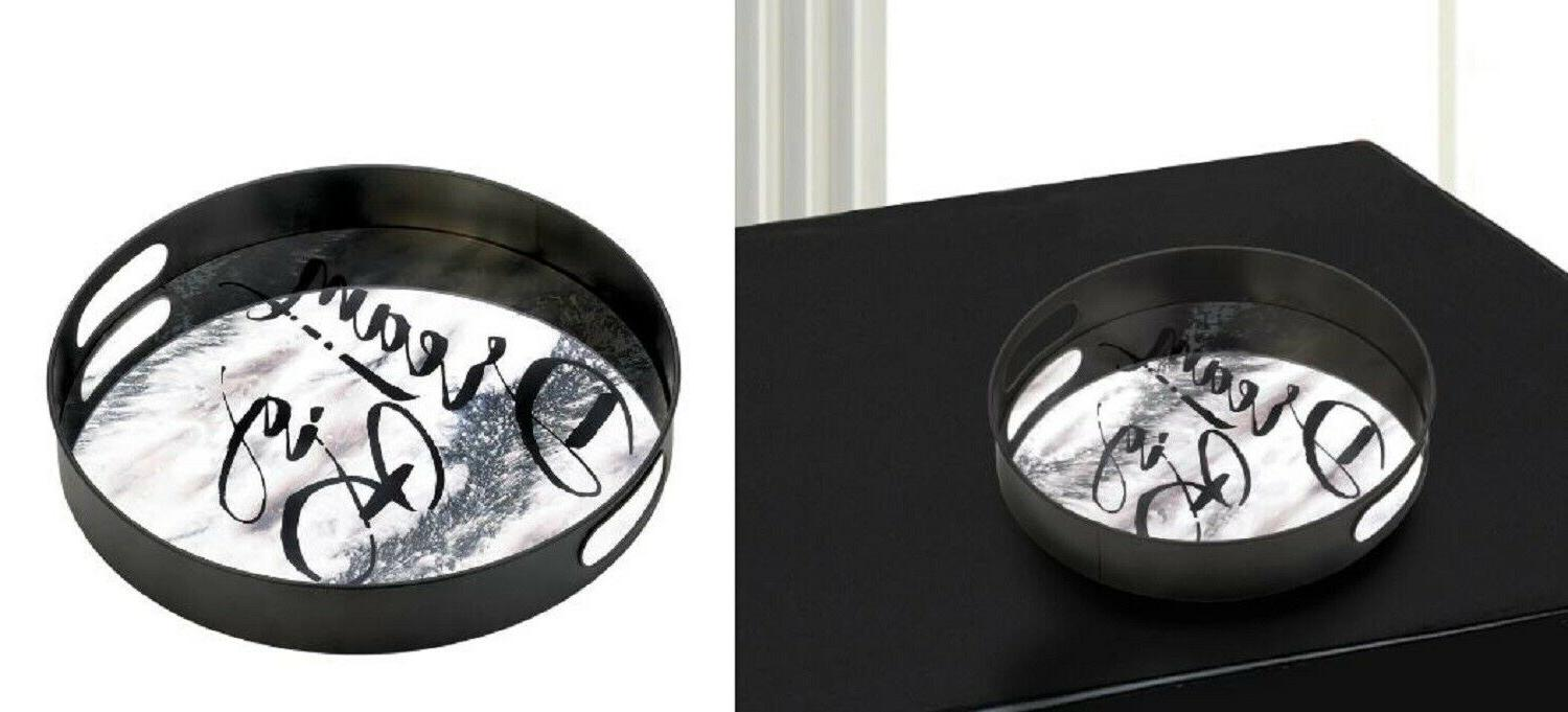 bathroom vanity tray mirrored serving large round